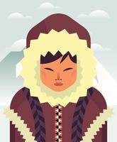 Eskimo's illustratie vector