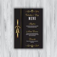 Valentijnsdag menu vector