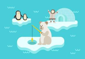 Eskimo's vectorillustratie