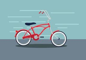 Red Bicycle Against Wall vector