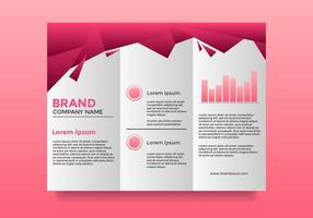 Professional Company Pink Brochure Template vector