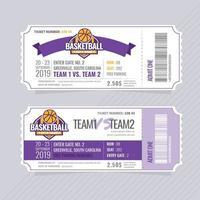 Vector Basketball Tickets