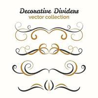 Flourish elements. Hand drawn dividers set