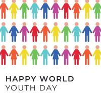 Colorful People Celebrating Youth Day vector