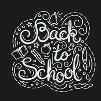 Back to school card. Vector illustration