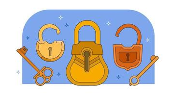 Padlocks And Keys Vector