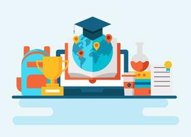 Global Education Concept Vector
