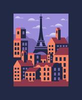 Parijs illustratie