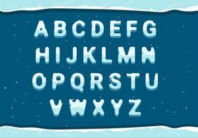 ijzig alfabet vector