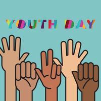 Kleurrijke jeugd dag pamflet vector