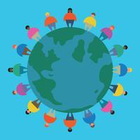 Jonge mensen over de hele wereld vector