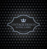 Vintage etiketkaart vector