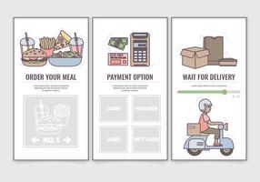 Vector Online-voedselbestelling