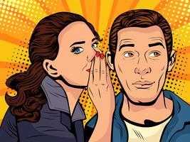 Roddels en geruchten Pop-artstijl