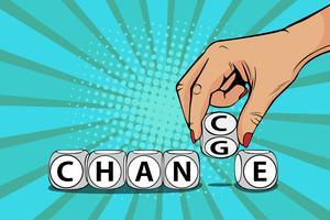 Verander naar Chance Pop Art Style vector