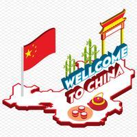 illustratie van info grafische chinese achtergrond concept vector