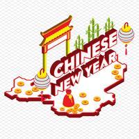 illustratie van info grafische chinese achtergrond concept