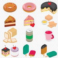 illustratie van info grafische dessert concept