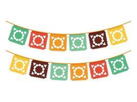 feestelijke gekleurde slingers vector