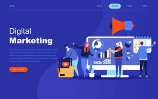 Modern plat ontwerpconcept van digitale marketing