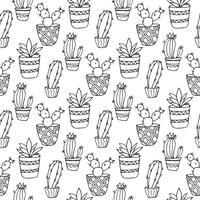 Cactus naadloze patroon illustratie vector