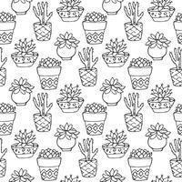 Cactus naadloos patroon vector