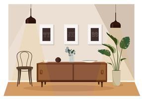 Vector woonkamer illustratie