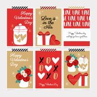Vector Valentijnsdag kaarten