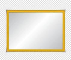 gouden glanzende gloeiende frame met schaduwen geïsoleerd. gouden luxe vintage stijl realistische rand, foto, banner. illustratie - vector