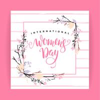 Internationale Vrouwendag. Vector sjabloon