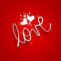 Mooie kaart liefde achtergrond met hart ontwerp vector