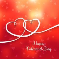 Mooie levendige twee harten voor Valentijnsdag kaart achtergrond vector