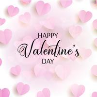 De dagachtergrond van de valentijnskaart met harten