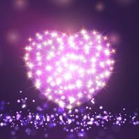 Valentijnsdag schittert hart vector