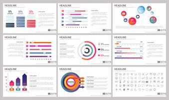 Moderne elementen van infographics voor presentatiesjablonen