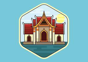 Bangkok vectorillustratie vector