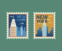 New York Postzegels vector