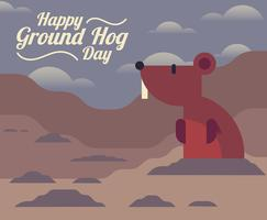 Ground Hog Day Illustratie vector