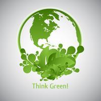 Groene Eco Wereld vector