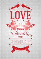 Valentijnsdag vector flyer