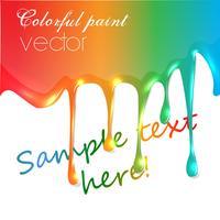 Realistische vector kleurrijke verf druppelen