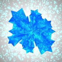 Blauwe vector ster