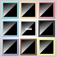 Kleurrijke frame vector set