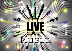 Live-muziekgitaren in een cirkel