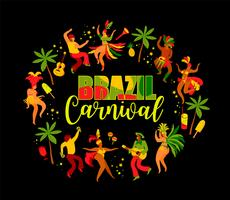 Carnaval van Brazilië. Ontwerpelement voor carnavalconcept en andere gebruikers.