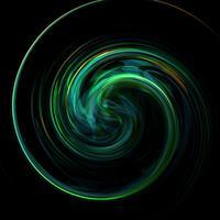 Verdraaide groene glanzende en kleurrijke achtergrond, vectorillustratie