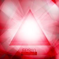 Rode abstracte driehoeken vector
