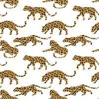 Naadloos exotisch patroon met abstracte silhouetten van dieren.