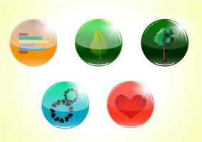 Kleurrijke vectorknopen