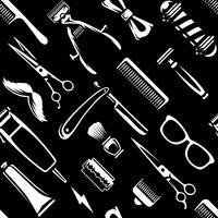 Barber Tools naadloze textuur Vector